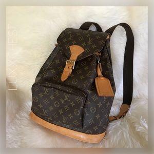 🎀  Backpack Louis Vuitton Montsouris GM .